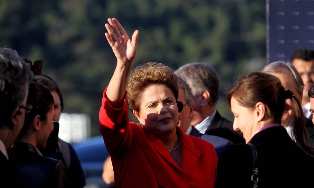 A candidata à reeleição, Dilma Rousseff (PT), concentrou os ataques nas propostas econômicas de Marina Silva (PSB) Foto: Fernando Donasci / Agência O Globo