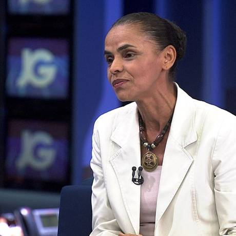 Marina Silva foi a primeira candidata à Presidência entrevistada pelo 'Jornal da Globo' Foto: Reprodução