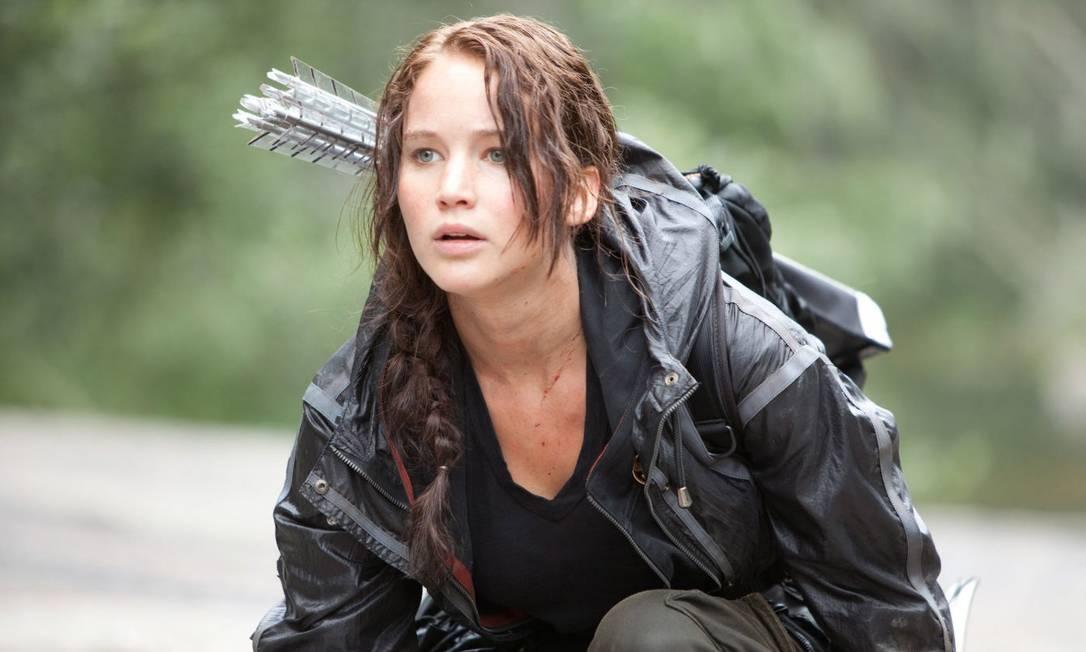 """A atriz Jennifer Lawrence numa cena do filme """"Jogos vorazes"""" Foto: Divulgação"""