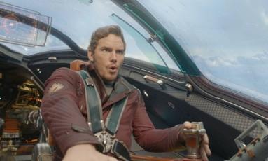 Chris Pratt em cena do filme 'Guardiões da Galáxia' Foto: Divulgação