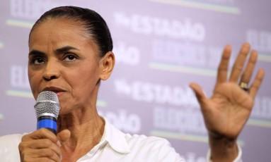 A ex-senadora do Acre Marina Silva (PSB) subiu quatro pontos em relação à pesquisa realizada na semana passada Foto: Fernando Donasci / Agência O Globo