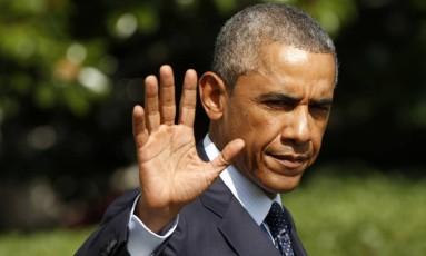 Barack Obama. Presidente deve discutir criação de coalizão internacional contra o Estado Islâmico com aliados da Otan durante a semana Foto: KEVIN LAMARQUE / REUTERS