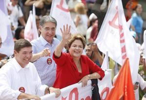Dilma Rousseff faz campanha em Belo Horizonte Foto: Alexandre Cassiano / O Globo