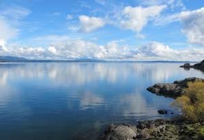 O belo Lago Villarrica, na região de Pucón, no Chile Foto: Guilherme Freitas / O Globo