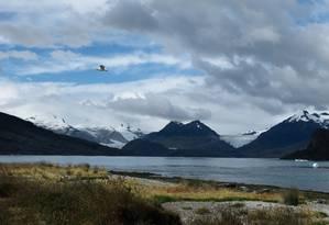 A isolada Baía Ainsworth, no Parque Nacional Alberto de Agostini, é uma das primeiras paradas do navio Stella Australis Foto: Eduardo Maia / O Globo