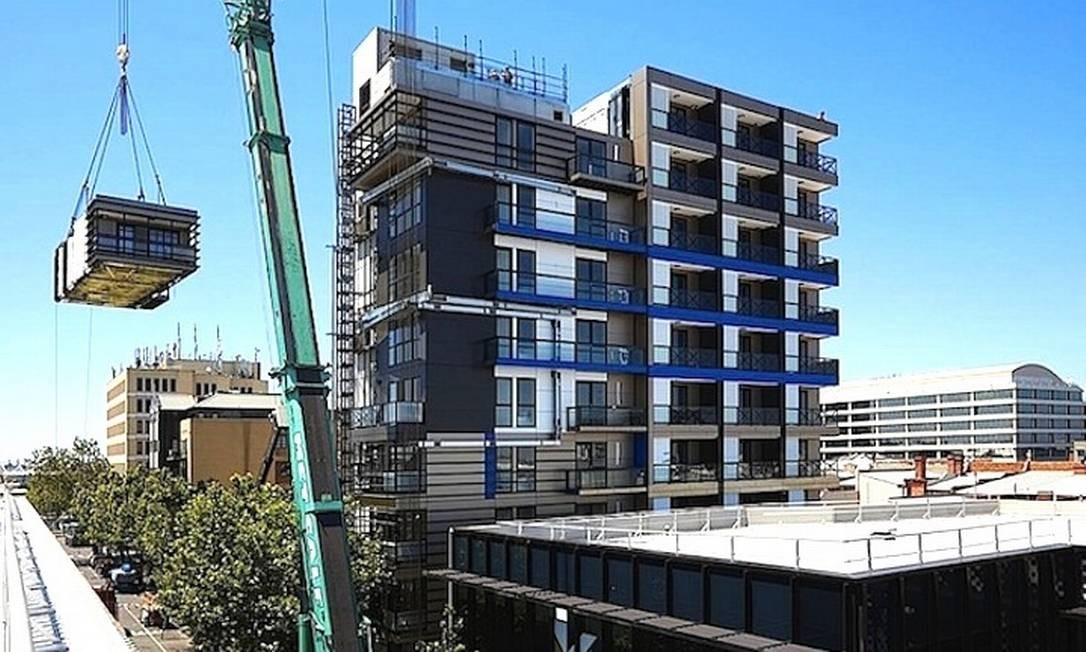 Um prédio pronto em cinco dias Foto: / Hickory Group