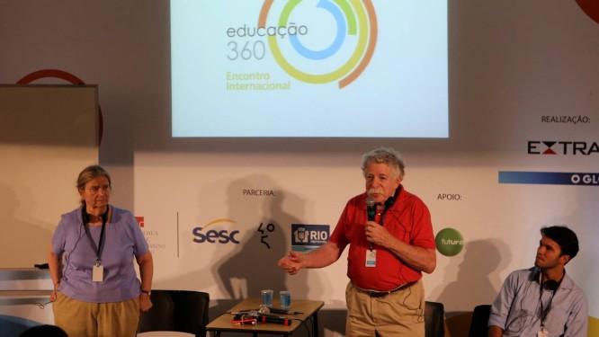 Ellen Kaplan e Bob Kaplan palestram na Sala Novas Tecnologias Foto: Guilherme Pinto / Agência O Globo