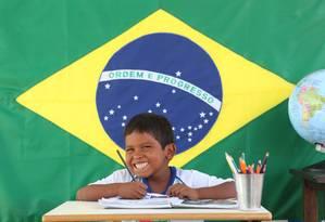 Com estudantes dos 6 aos 17 anos, Escola Fazenda Santa Mônica, em Paiaguás, no Mato Grosso do Sul, é a única instituição de ensino da região Foto: Divulgação