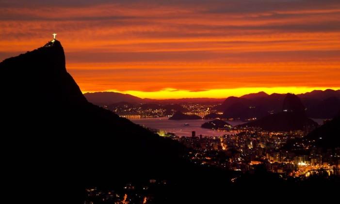 Bela paisagem do Rio vista da Vista Chinesa Foto: Fernando Quevedo / O Globo