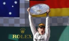 Nico Rosberg venceu o GP de Melbourne, na abertura da temporada de 2014 Foto: DAVID GRAY/REUTERS