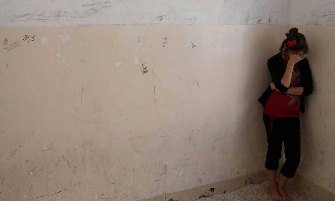 A garota yazidi foi capturada durante uma ofensiva nas Montanhas Sinjar. Ela permanece presa Foto: / Reprodução da internet