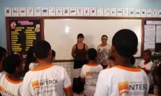 Alunos da escola Eulália Bragança, no Jacaré Foto: Angelo Antônio Duarte / Agência O Globo