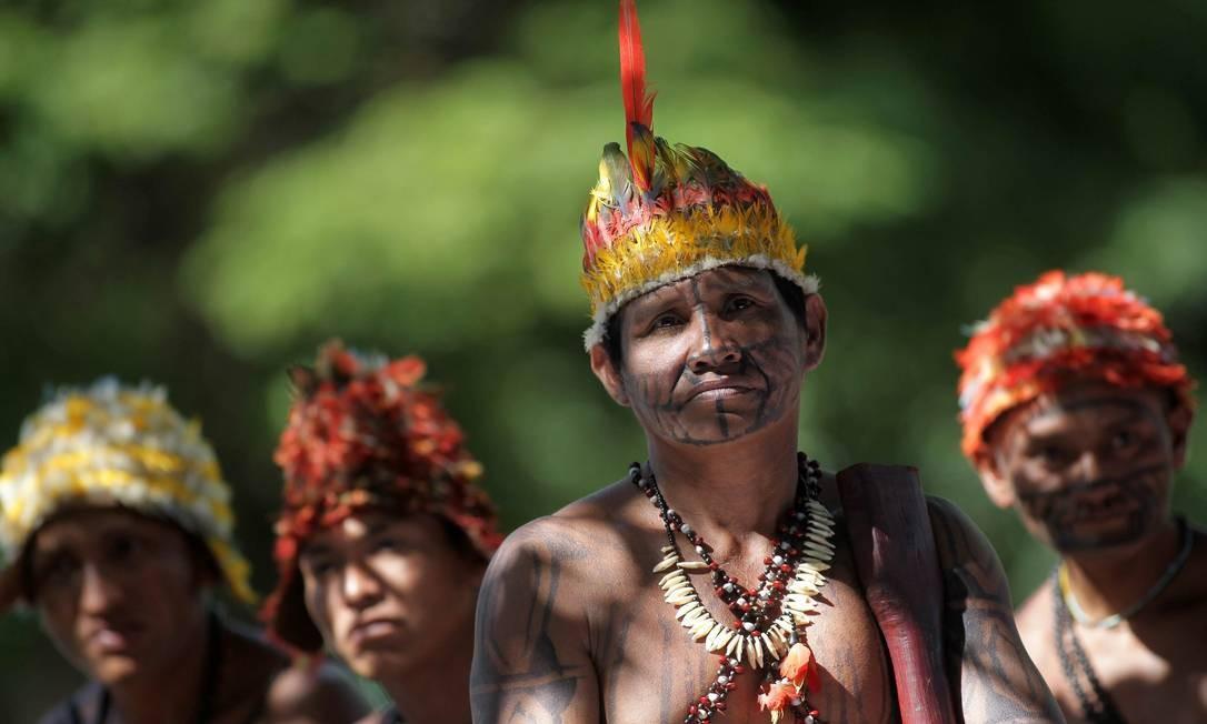 Afetados: 12% dos atingidos pela obra são indígenas, sendo 51% da etnia Munduruku, que protestou contra a usina em 2013 Foto: Reuters/11-6-2013 / Ueslei Marcelino