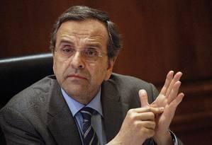 O primeiro ministro da Grécia, Antonis Samaras Foto: Kostas Tsironis / Bloomberg