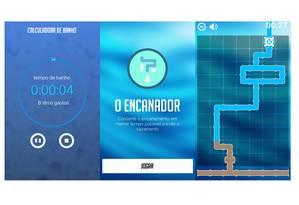 A calculadora de banhos e o game que alerta para os gastos com vazamentos de água Foto: Reprodução