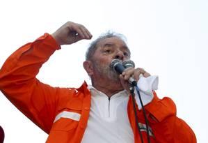 Lula discursa em evento a favor do pré-sal no Rio de Janeiro Foto: Hudson Pontes / O Globo
