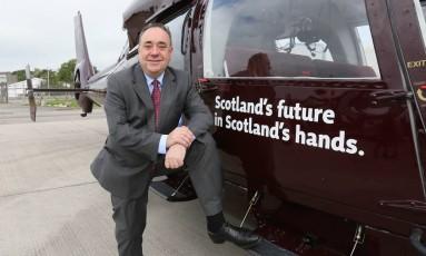 """Alex Salmond. Líder nacionalista acredita que vitória do """"sim"""" poderia inserir Escócia no cenário global Foto: PAUL HACKETT / Reuters"""