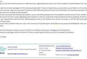 Em novo e-mail, SWB pede desculpas pela generalização Foto: Reprodução