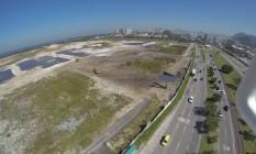 Vista aérea feita por drone de terreno do futuro Campo de Golfe Olímpico Foto: Felipe Hanower / Agência O Globo