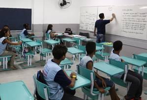 Sala de aula: valores nacionais de investimento são inferiores aos de países de renda similar Foto: Thiago Lontra/ 13-08-14