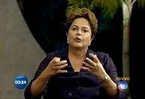 Dilma tenta dividir escândalo de corrupção na Petrobras com a oposição Foto: Reprodução/TV Record