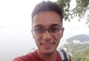 O estudante Gabriel Nakamura, que gabaritou a prova de Ciências Humanas dos Simulados O GLOBO Foto: Arquivo pessoal