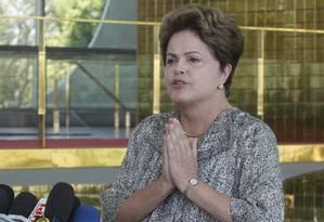 Dilma concede entrevista coletiva no Palácio da Alvorada Foto: Givaldo Barbosa / Agência O Globo