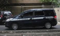 Táxis de Niterói com insulfilm muito escuro. Foto: Angelo Antônio Duarte / Agência O Globo