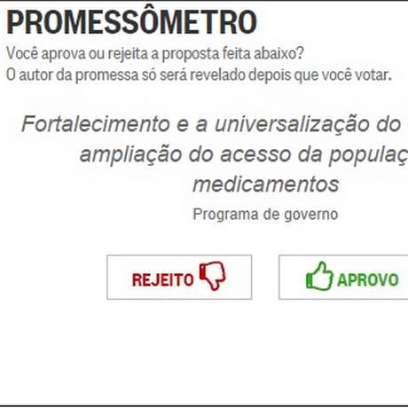 Ferramenta promove interação com leitores Foto: O Globo