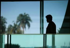 Presidente Dilma no Palácio do Alvorada Foto: Reuters