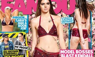 Kendall Jenner: celulite em capa de revista Foto: Divulgação