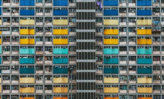 Choi Hung Estate, em Wong Tai Sin. Prédio abriga 19 mil pessoas Foto: Divulgação/ Peter Stewart