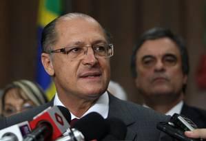 O governador Geraldo Alckimin Foto: Michel Filho/6-10-2012 / Agência O Globo