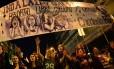 Manifestantes protestaram contra a reforma em março deste ano