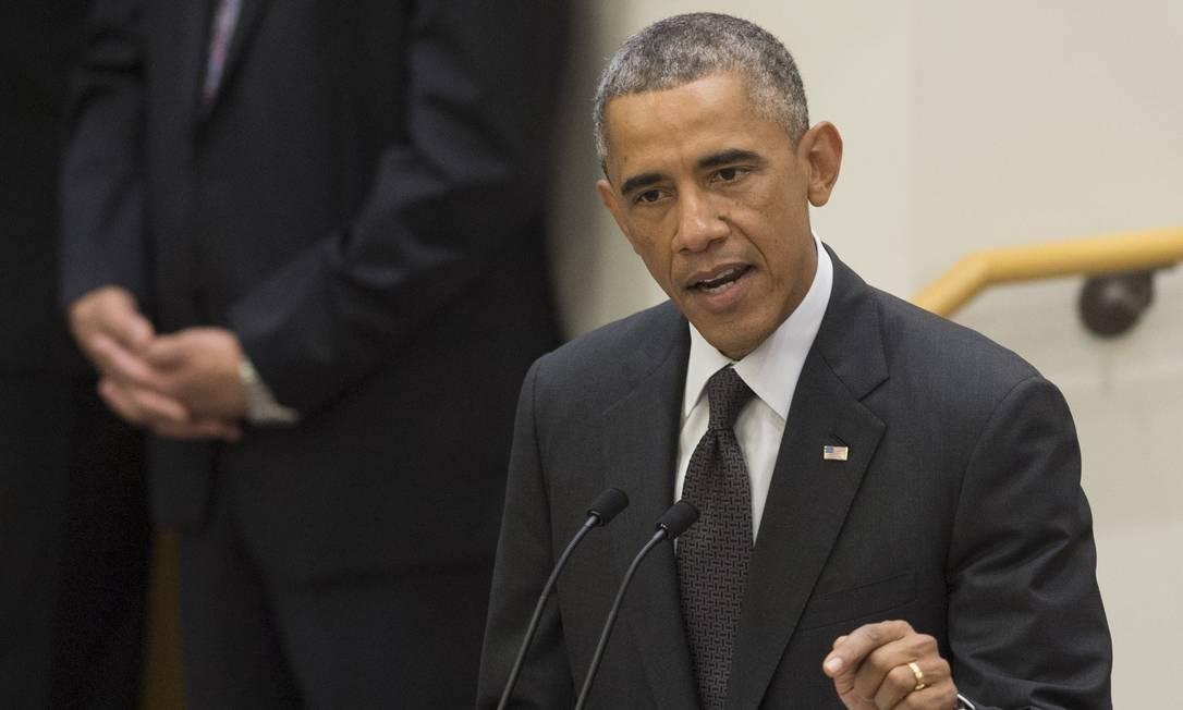 Obama discursa sobre a epidemia de ebola durante a Assembleia Geral da ONU Foto: SAUL LOEB / AFP