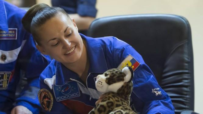 A astronauta passou sete anos treinando para o vôo Foto: SHAMIL ZHUMATOV / REUTERS