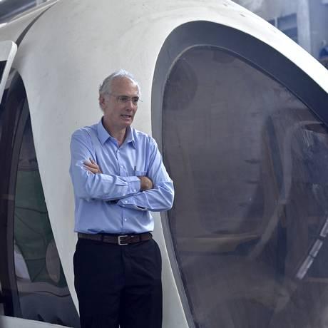 Stephan em apresentação do projeto Maglev-Cobra no Rio: tecnologia de levitação magnética já é alternativa viável e sustentável para transporte urbano de massa e de alta velocidade entre cidades Foto: Divulgação/Coppe