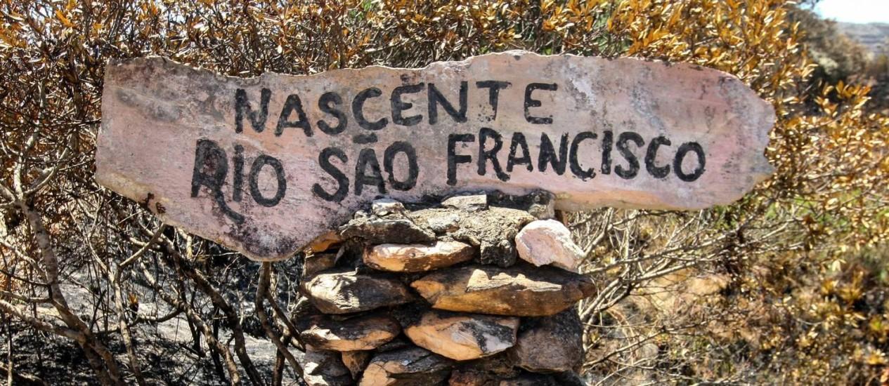 Seca da principal nascente do Rio São Francisco na Serra da Canastra. Foto: Flávio Tavares / Hoje em Dia / Agência O Globo