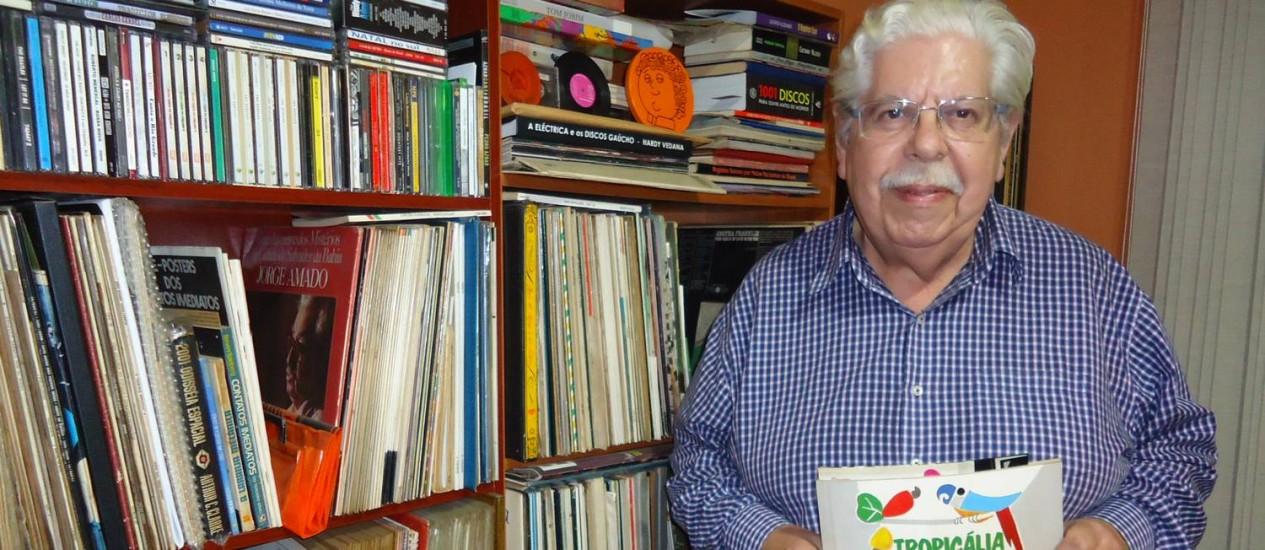 O radialista gaúcho Vanderlei Malta da Cunha encontrou no seu acervo entrevistas raras feitas nos bastidores do IV Festival da Música Brasileira da TV Record, em novembro de 1968 Foto: Acervo Pessoal / Divulgação