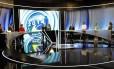 Debate entre os candidatos à Presidência da República na TV Record em São Paulo