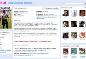 Comunidade Futebol Alternativo do Orkut Foto: Reprodução