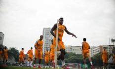Elivélton durante treino nas Laranjeiras Foto: Divulgação / Fluminense