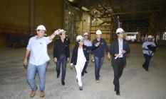 Prefeito Eduardo Paes visita obras do Parque Olímpico, na Barra Foto: Divulgação