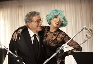 Bennett e Gaga: crooner chega a mais um número, desta vez aos 88 anos Foto: Divulgação