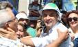 Senador e candidato pelo PSDB à Presidência da República, Aécio Neves, fez ato de campanha ao lado do governador de São Paulo, Geraldo Alckmin, em Mogi das Cruzes