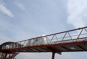 Trem de levitação magnética em teste público na Cidade Universitária Foto: Divulgação/ Coppe UFRJ