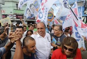 Luiz Fernando Pezão faz campanha em Paty do Alferes Foto: Pablo Jacob / O Globo