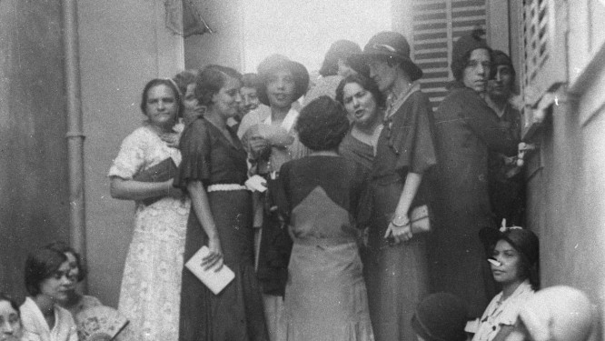 Seção eleitoral feminina do Méier, em 1933, no primeiro pleito com participação das mulheres Foto: Arquivo O Globo / Agência O Globo