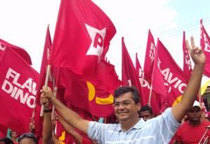 Flávio Dino, candidato do PCdoB ao governo do Maranhão, tem o apoio de parte da militância do PT, que reprovou adesão oficial do partido à Roseana Sarney (PMDB) Foto: Evandro Éboli/Agência O Globo
