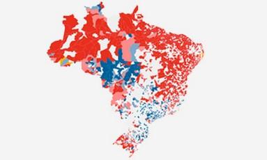 Thumb infográfico eleição por municipios Foto: Arte